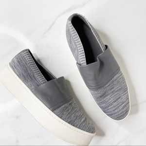 Vince Leather Platform Knit Slip On Sneakers 10